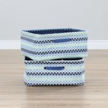 Nightstand Baskets, 2-Pack - Blue Scales