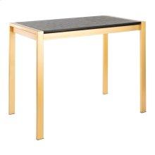 Fuji Counter Table - Gold Metal, Black Nc Wood