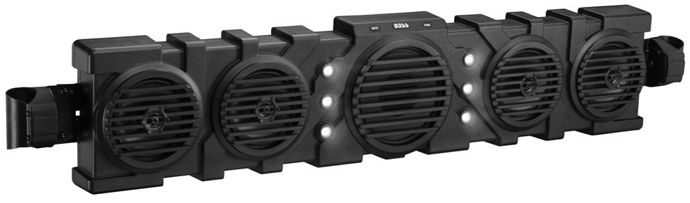 "Reflex 46"" IPX5 Rated Weatherproof UTV Audio System with Bluetooth Streaming and 1000 Watt Built-in Class D Amplifier, External BLUETOOTH Controller and Built-in Dome Light"