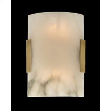Curved Alabaster Wall Sconce