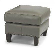 Reuben Leather or Fabric Ottoman