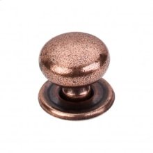 Victoria Knob 1 1/4 Inch w/Backplate - Old English Copper