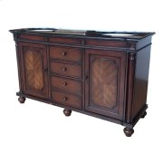 "Charleston 2 Door / 4 Drawer Traditional 60"" Double Vanity Sink Product Image"