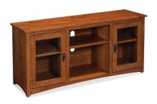 San Miguel TV Console with Glass Doors and Open Center, San Miguel TV Console with Glass Doors and Open Center, 54""