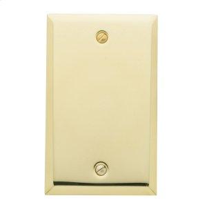 Polished Brass Beveled Edge Single Box Cover Product Image