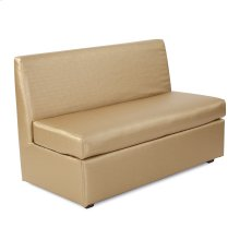 Slipper Loveseat Luxe Gold