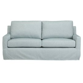 Slip Covered Sofa - Mist Finish
