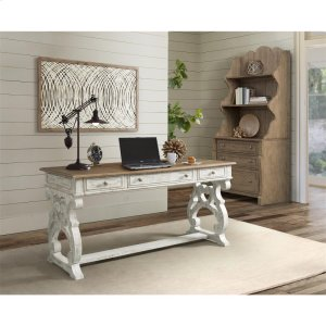 RiversideMadison - Writing Desk - Caramel/rustic White Finish