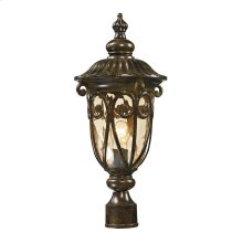Logansport 1-Light Outdoor Post Mount in Hazelnut Bronze