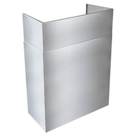"""Optional 24"""" to 45"""" Telescopic Flue Extension for Outdoor Range Hoods in a 13"""" Standard Depth Installation"""