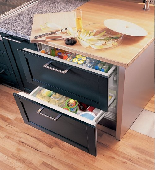 "36"" Refrigerator and Freezer Drawers - Panel Ready"
