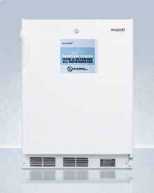 Commercially Approved ADA Compliant Nutrition Center Series All-refrigerator In White for Built-in or Freestanding Use, With Front Lock and Digital Temperature Display