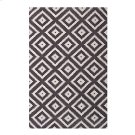 Alika Abstract Diamond Trellis 5x8 Area Rug in Ivory and Charcoal Product Image