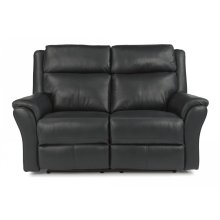 Pike Leather Power reclining Loveseat with Power Headrests