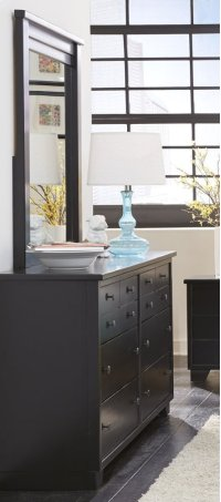 Mirror - Black Finish Product Image