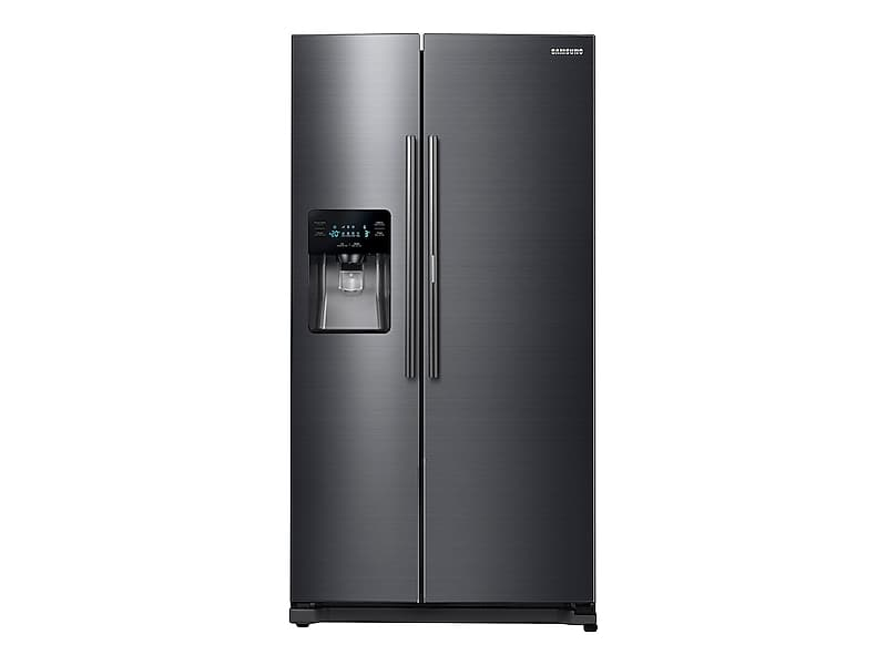 Samsung25 Cu. Ft. Food Showcase Side-By-Side Refrigerator With Metal Cooling In Black Stainless Steel
