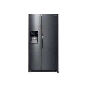 25 cu. ft. Food ShowCase Side-by-Side Refrigerator with Metal Cooling in Black Stainless Steel - FINGERPRINT RESISTANT BLACK STAINLESS STEEL