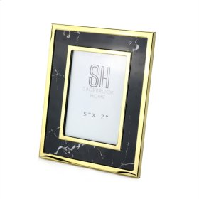 Black Marble Look Photo Frame,5x7