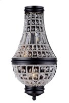 1209 Stella Collection Wall Sconce W:9.5in H:17.5in Ext: 4.5in Lt:2 Dark Bronze Finish Royal Cut Crystal (Clear) Product Image