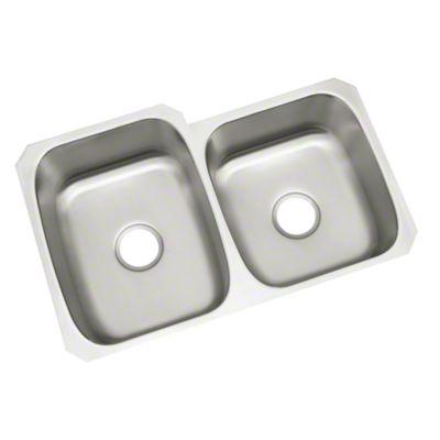 "McAllister® Unequal Double-basin Sink, 32"" x 21"" x 9"""