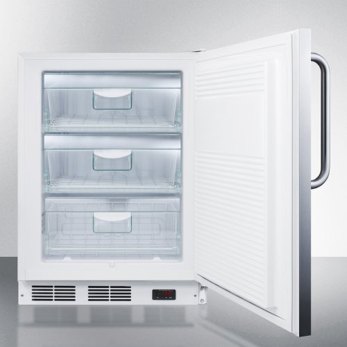 ADA Compliant Built-in Medical All-freezer Capable of -25 C Operation; Full Stainless Steel Exterior and Lock