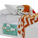 Canvas Bedside Storage Caddy - Turquoise Product Image