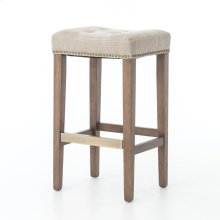 Bar Stool Size Desert Canvas Cover Aspen Grey Finish Sean Bar + Counter Stool