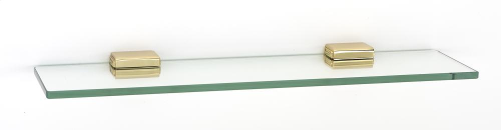 Cube Glass Shelf A6550-18 - Polished Brass
