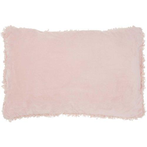 """Faux Fur Fl200 Rose 14"""" X 24"""" Lumbar Pillows"""