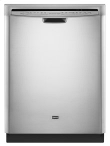 Monochromatic Stainless Steel Maytag® Jetclean® Plus Dishwasher with ToughScrub™ option