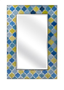 Penelope Blue and Green Mirror