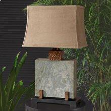 Slate Square Table Lamp
