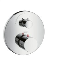 Chrome Thermostatic mixer for concealed installation with shut-off valve