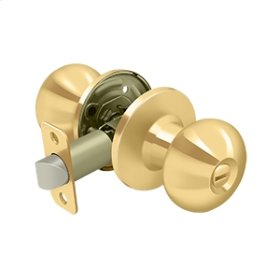 Portland Knob Privacy - PVD Polished Brass