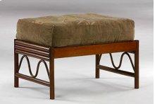 Rattan Floral Chair Ottoman