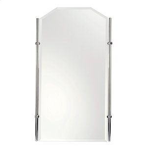"Polished Nickel 20"" x 35"" Small Framed Mirror"