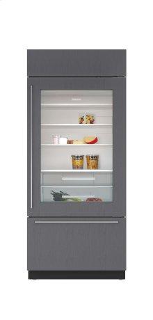 "36"" Built-In Over-and-Under Glass Door Refrigerator/Freezer - Panel Ready"