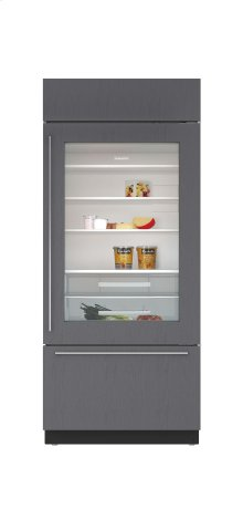"36"" Built-In Over-and-Under Glass Door Refrigerator/Freezer - Panel Ready"