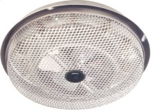 Fan-Forced Ceiling Heater, Aluminum; Low-profile , Open wire element. 1250W, 120VAC.