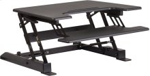 HERCULES Series 28.25''W Black Sit / Stand Height Adjustable Desk with Height Lock Feature and Keyboard Tray