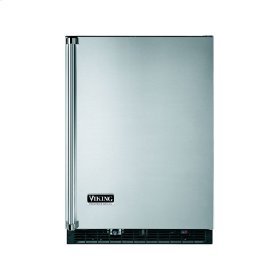 """Stainless Steel 24"""" Wide Beverage Center with Ice Maker - VURI (Right Hinge Door)"""