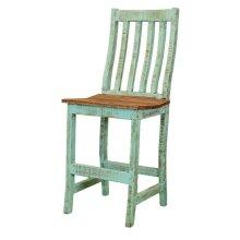 "24"" Turquoise Santa Rita Barstool"
