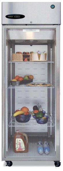 Refrigerator, Single Section Upright, Full Glass Door