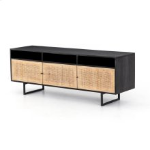 Black Wash Finish Carmel Media Console