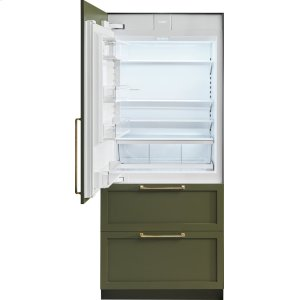 "36"" Designer Over-and-Under Refrigerator/Freezer with Internal Dispenser and Ice Maker - Panel Ready"