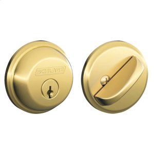 Single Cylinder Deadbolt - Bright Brass Product Image