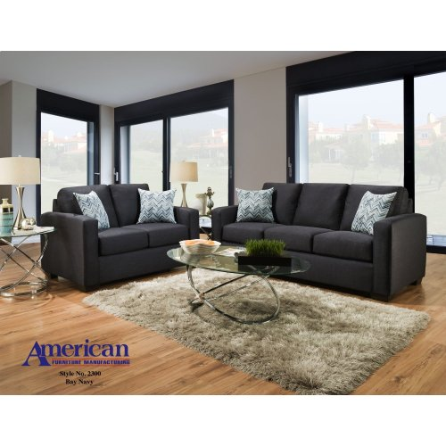 2300 - Bay Navy Loveseat