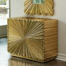 Linen Fold 2-Drawer Chest-Brass Product Image