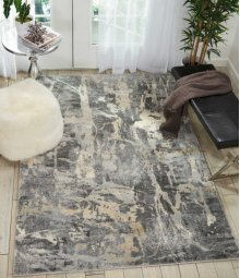Fusion Fss10 Grey Rectangle Rug 7'10'' X 10'6''