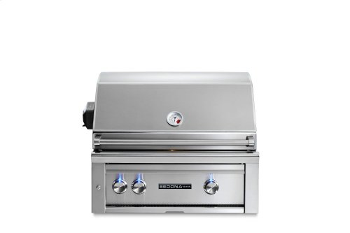 "30"" Sedona by Lynx Built In Grill with 1 Stainless Steel Burner and ProSear Burner and Rotisserie, NG"